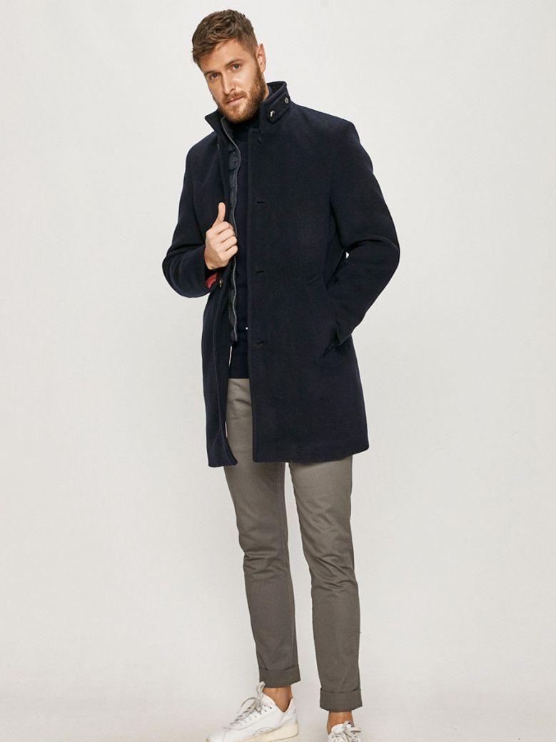 Tommy Hilfiger Mens Desert Sky Stand Up Collar Padded Coat