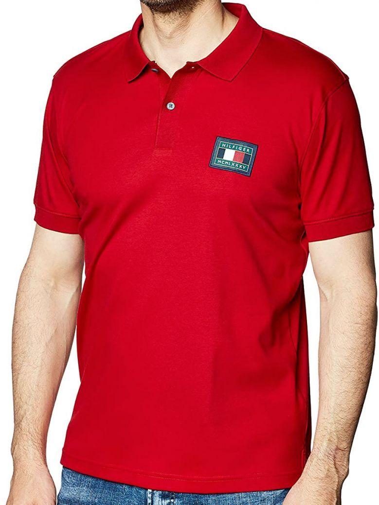 Tommy Hilfiger Mens Arizona Red Flex Icons Regular Fit Polo