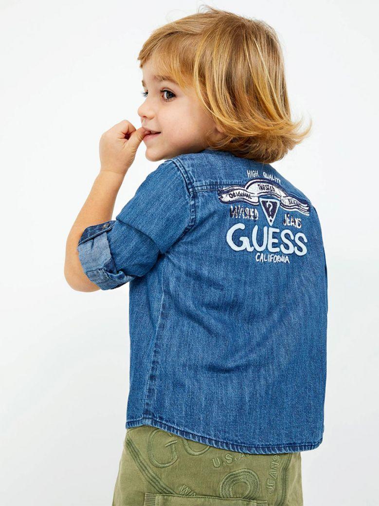 Guess Kids Blue Back Logo Denim Shirt