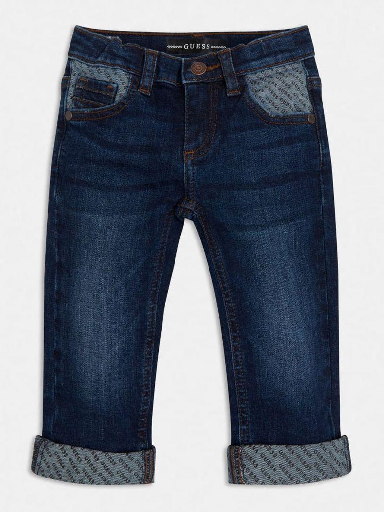 Guess Kids Dark Wash Slim Fit Denim Jeans
