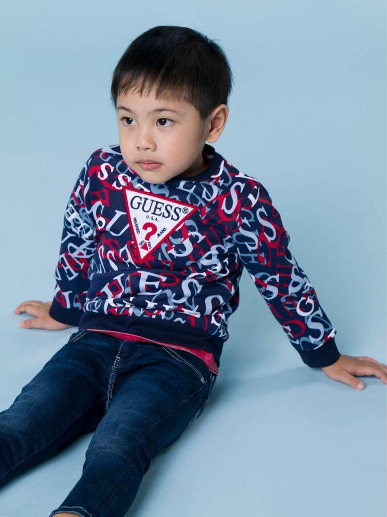 Guess Kids All Over Print Logo Sweatshirt