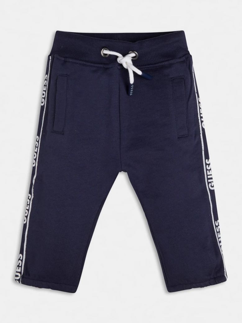 Guess Navy Side Logo Terry Joggers