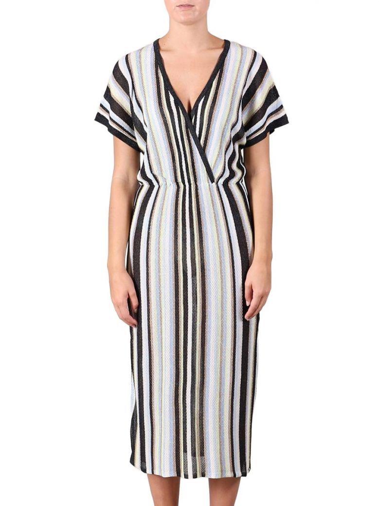 Rino & Pelle Nadie Soft Blue Stripe Lurex Knit Dress