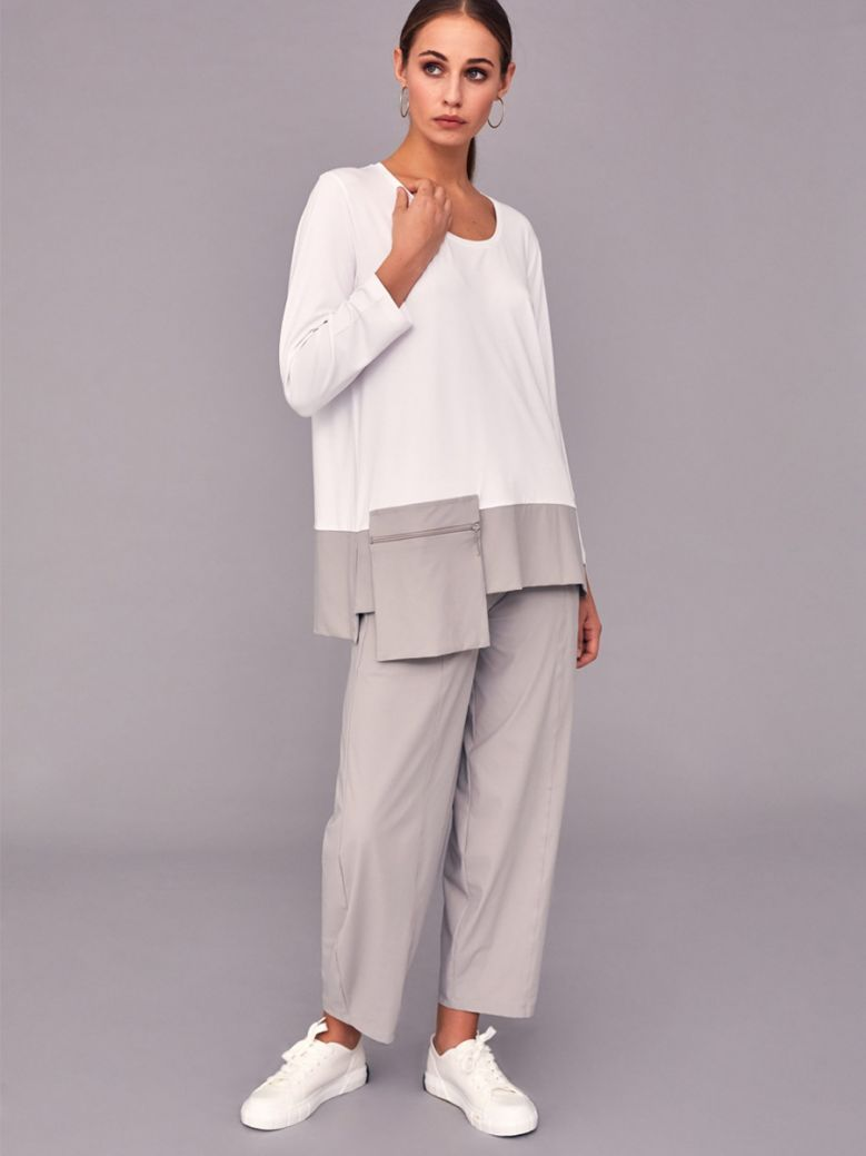 Naya Taupe Trousers with Seam