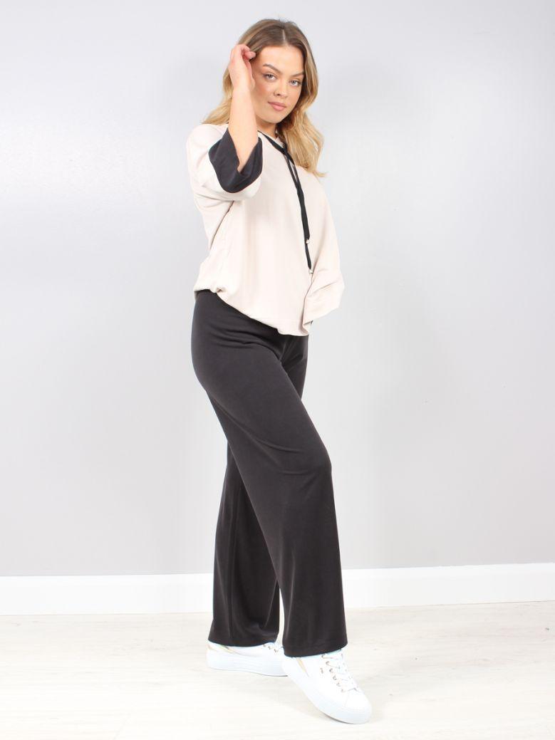 Naya Black Wide Leg Trousers