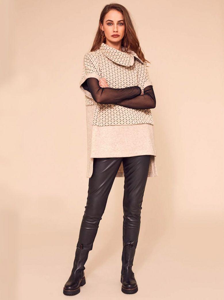 Naya Leatherette Leggings Black