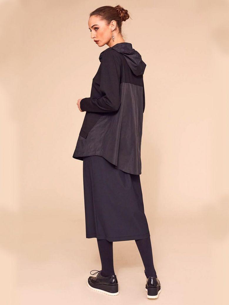 Naya Long Sleeve Hooded Top Black