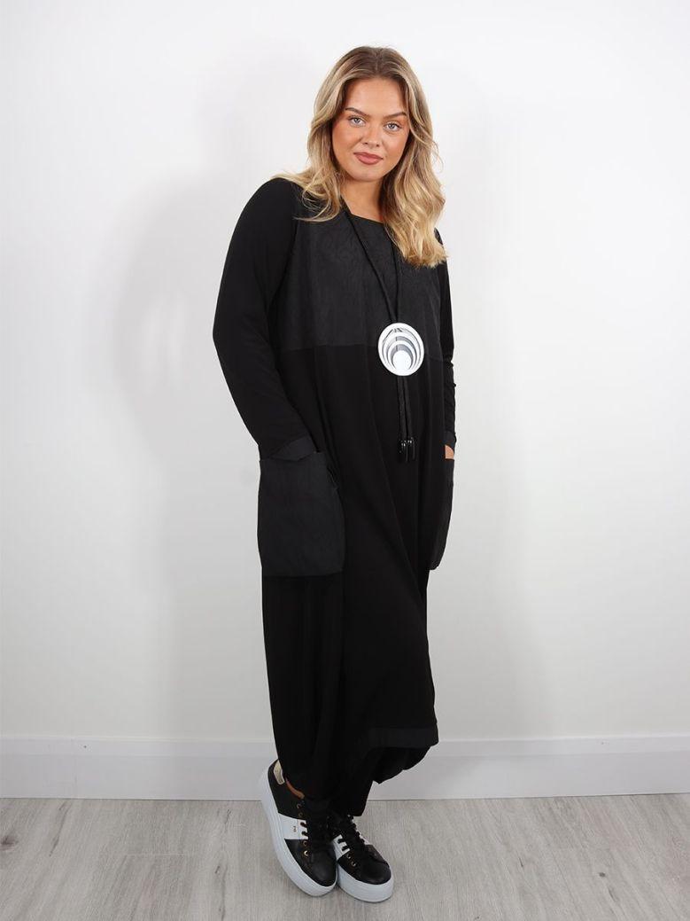 Naya Puff Ball Dress Black