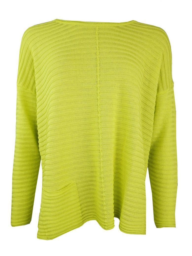 Naya Lime Green Ribbed Knit Jumper