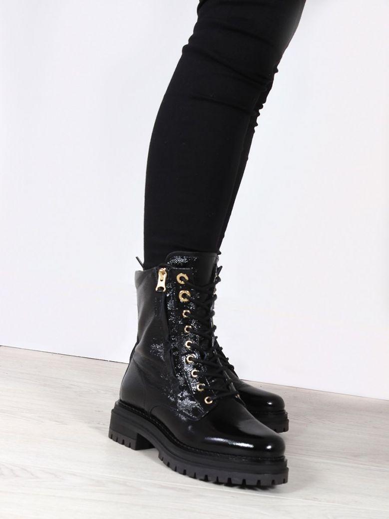 NeroGiardini Lace-up Platform Boots Black