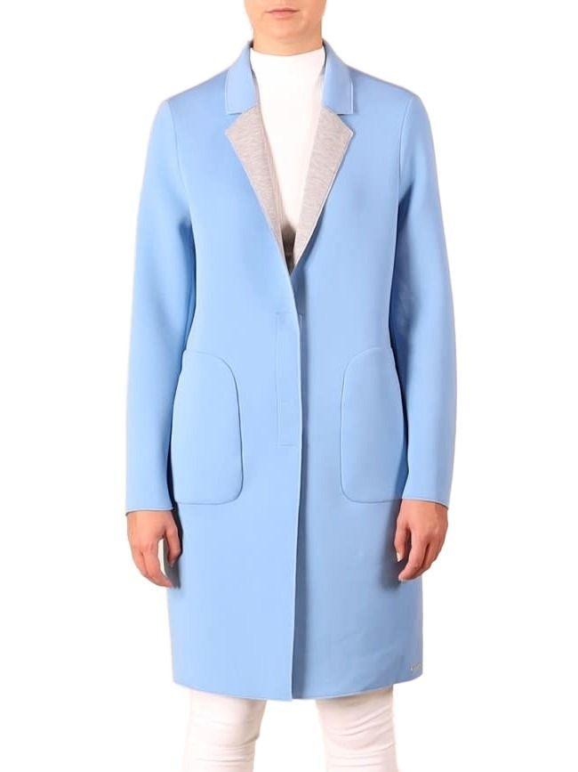 Rino & Pelle Soft Blue Scuba Jersey Coat