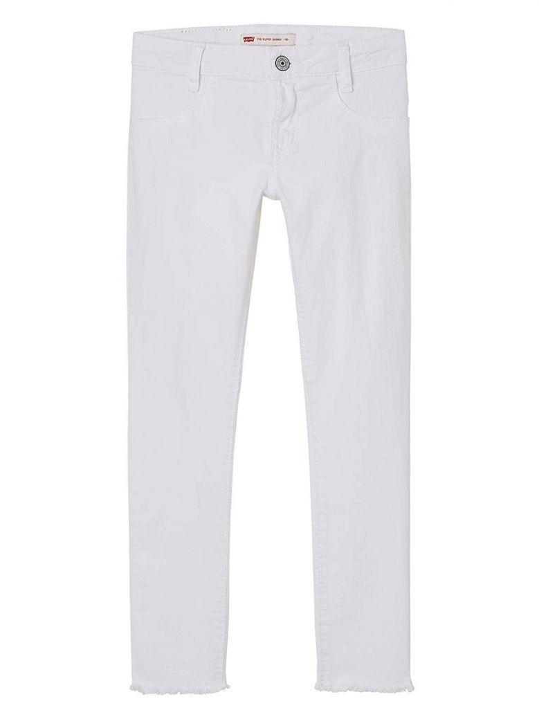Levis White Denim Super Skinny Jeans