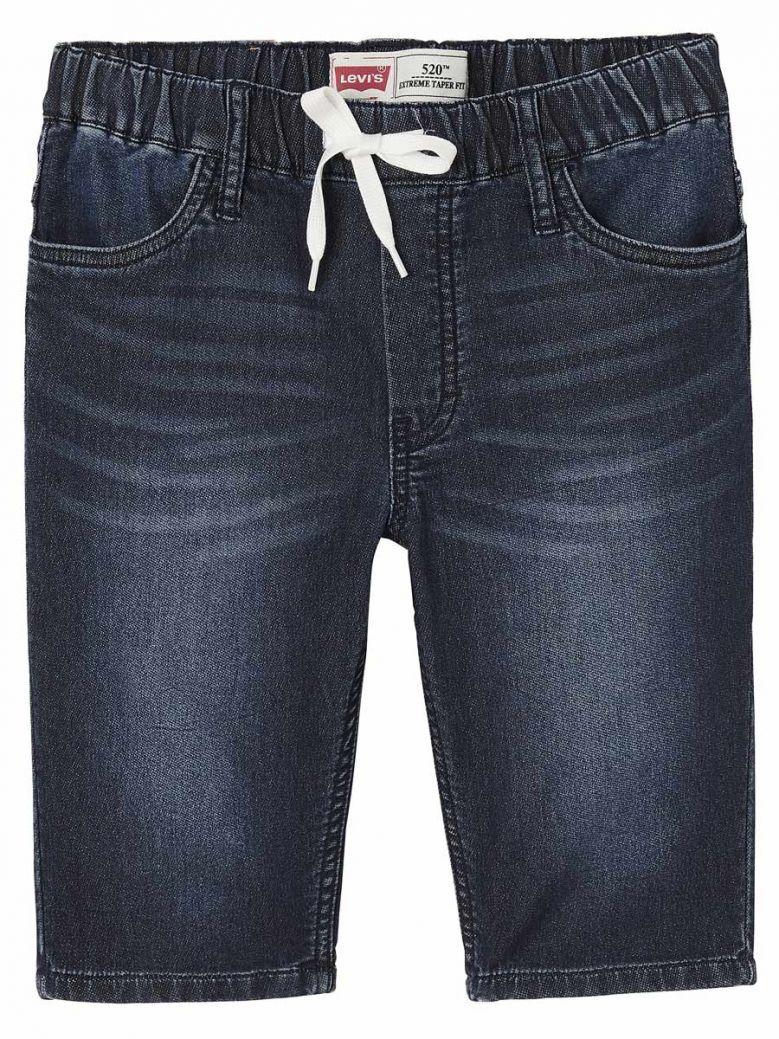 Levis Dark Blue Knit Denim Shorts