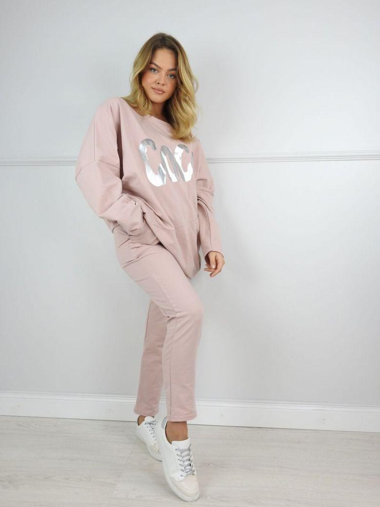 Cilento Woman Blush Pink Coco Loungewear Set