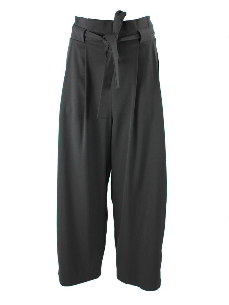 d.e.c.k By Decollage Black Pleated Wide Leg Crop Trouser