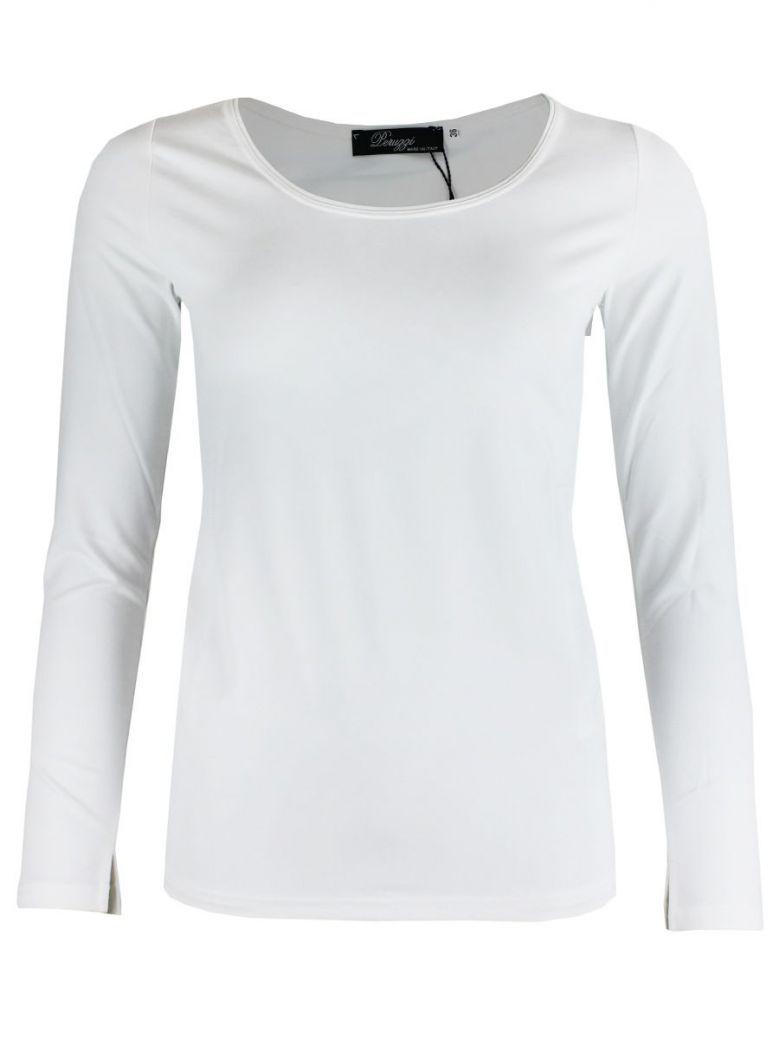 Peruzzi White Basic Long Sleeve Top