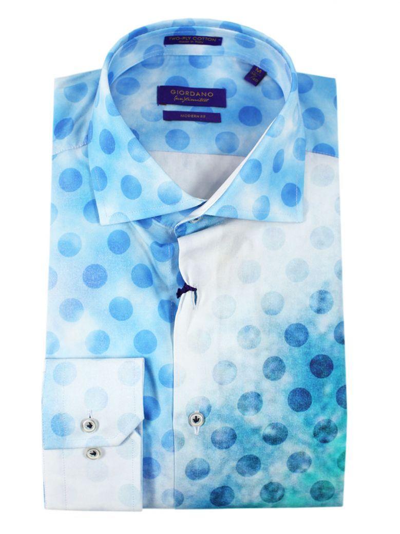 Giordano Modern Fit Blue Dot Surfer print Shirt
