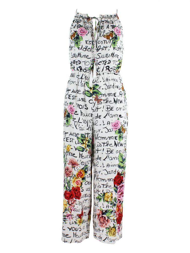 Derhy Garvanie Word Printed Jumpsuit