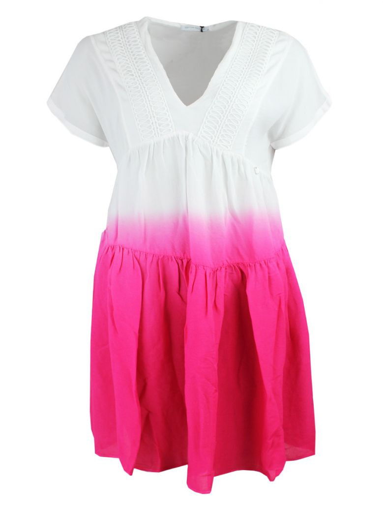 Cotton Brothers Rose Fuchsia Ombre Summer Dress