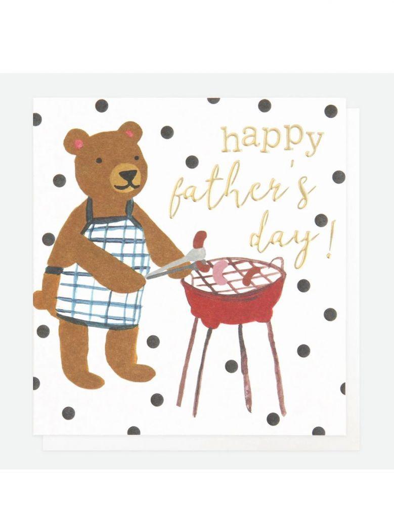 Caroline Gardner Painted Bear Father's Day Card