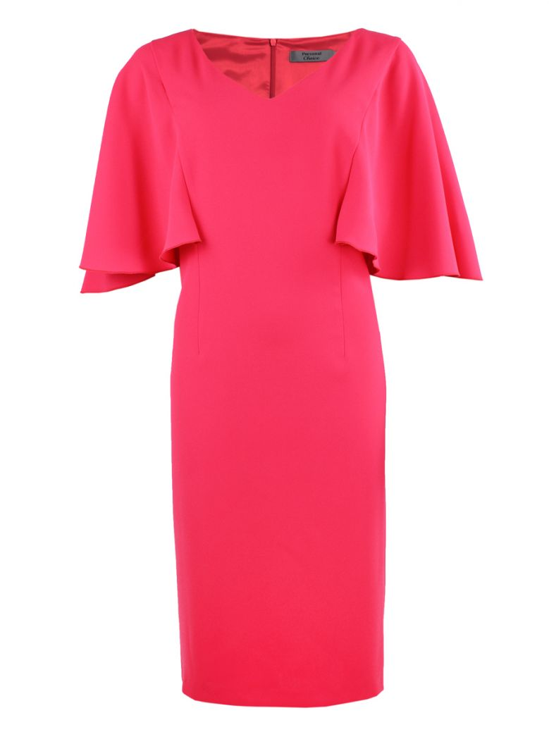 Personal Choice Poppy Red Cape Sleeve Dress