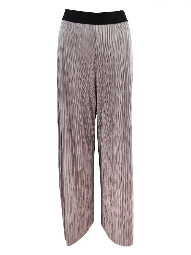 Personal Choice Taupe Pleated Wide Leg Trousers