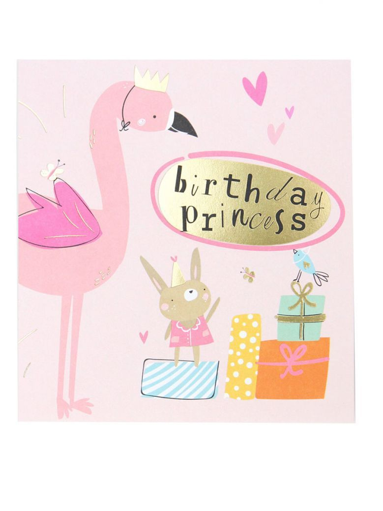 Caroline Gardner Flamingo Birthday Card