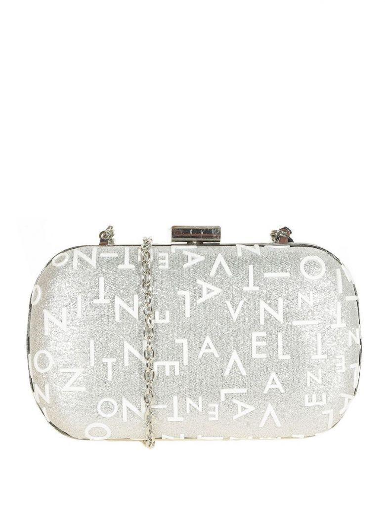 Valentino Silver Pier Boxy Clutch Bag