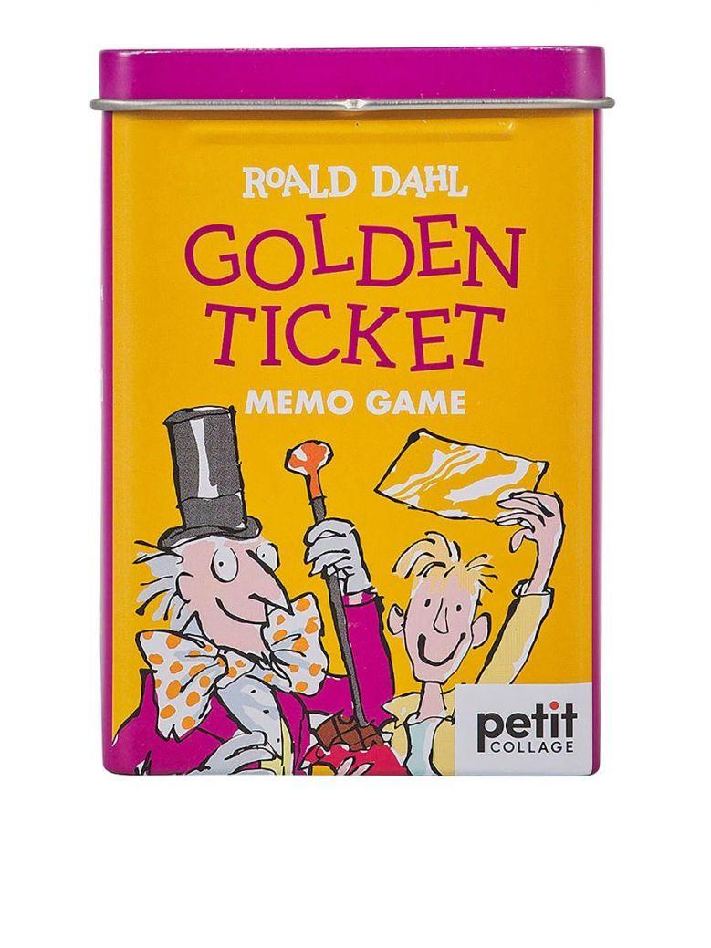 Petit Collage Roald Dahl Golden Ticket Memory Game