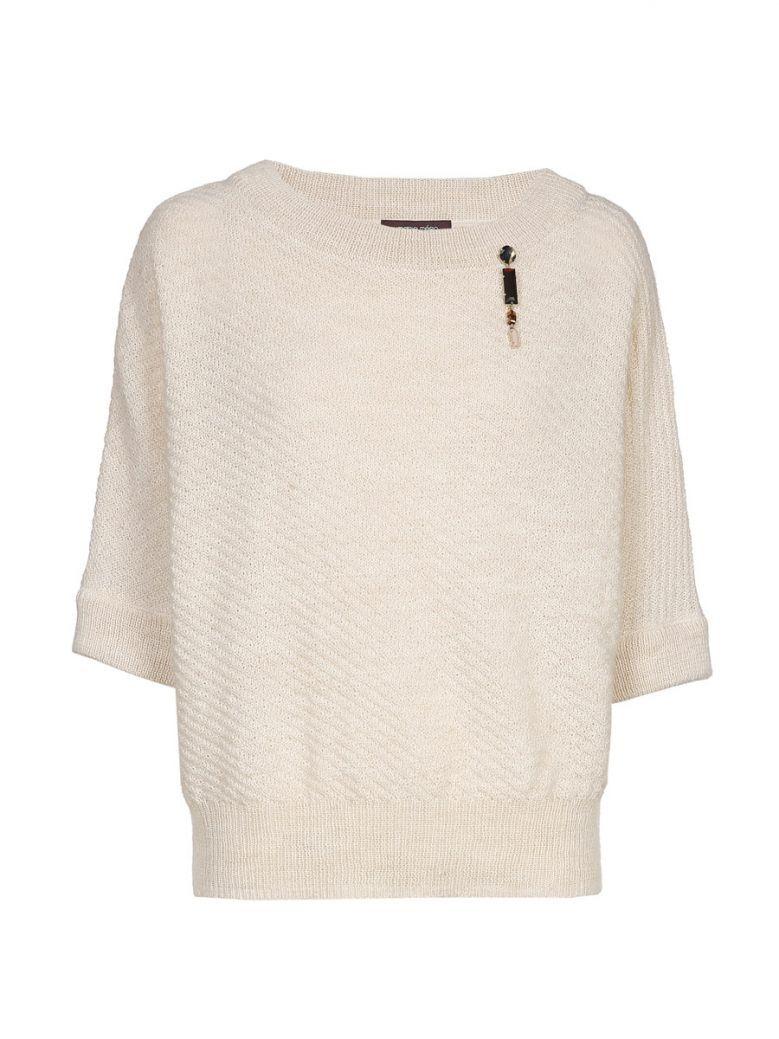 Marie Mero Cream Short Sleeve Knit