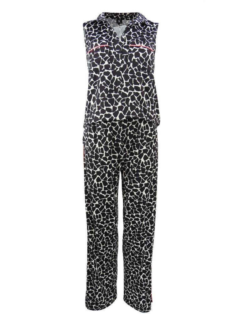 K Design Multi Animal Print Sleeveless Jumpsuit