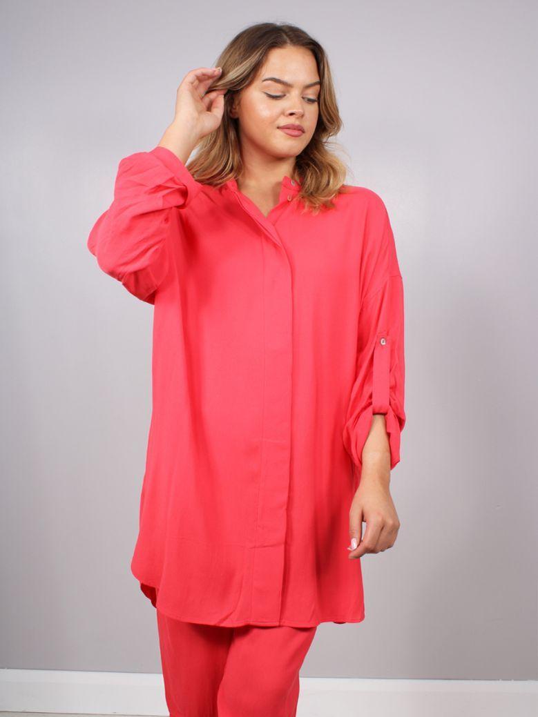 Q'Neel Shirt Style Tunic Red