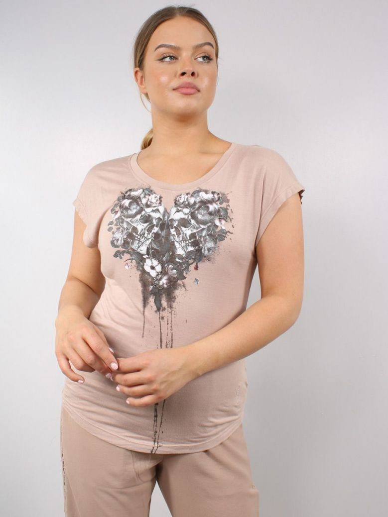 Religion Heart T-Shirt Ashes of Roses