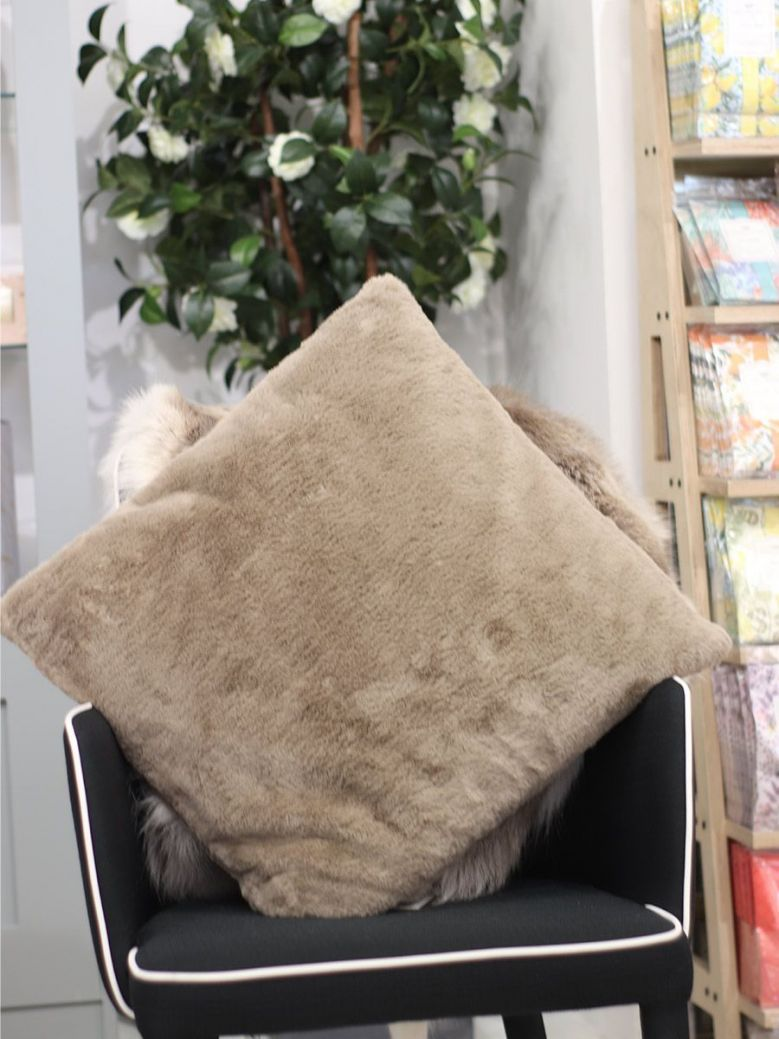 Rino & Pelle Barocco Faux Fur Pillowcase Brown