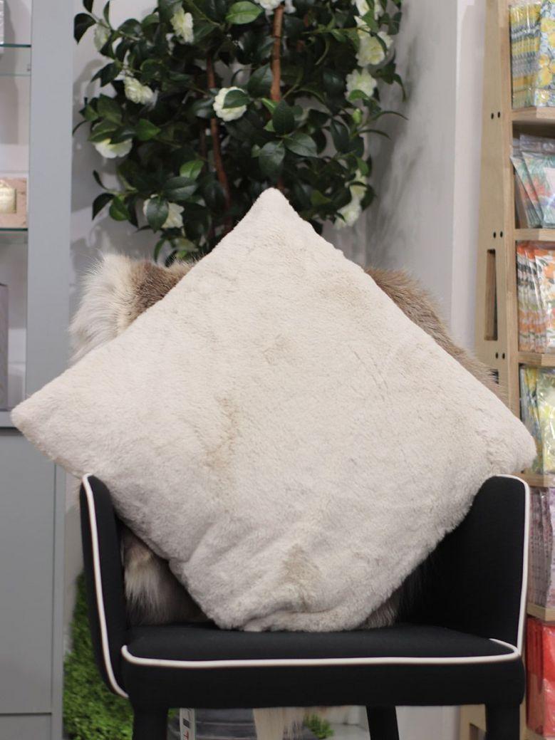 Rino & Pelle Barocco Faux Fur Pillowcase Natural