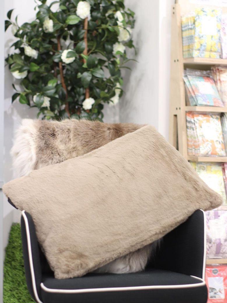 Rino & Pelle Lavoya Faux Fur Pillowcase Brown