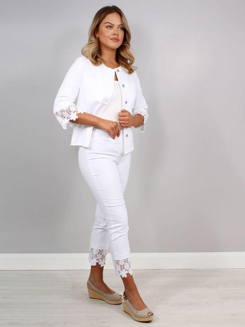 Robell Rose Jeans White