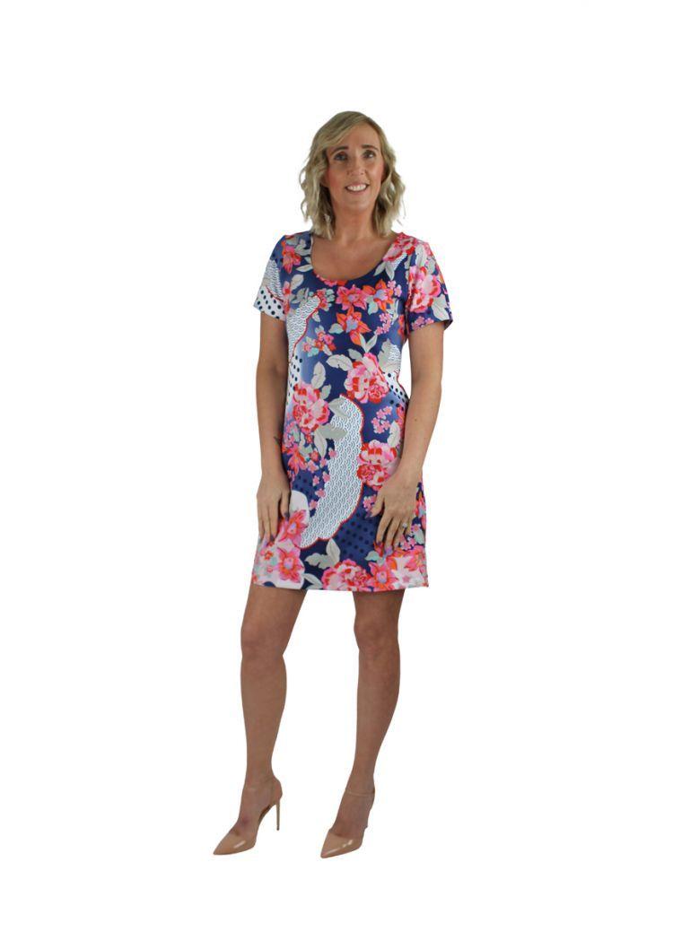 Robell Multi Floral Print Shift Dress