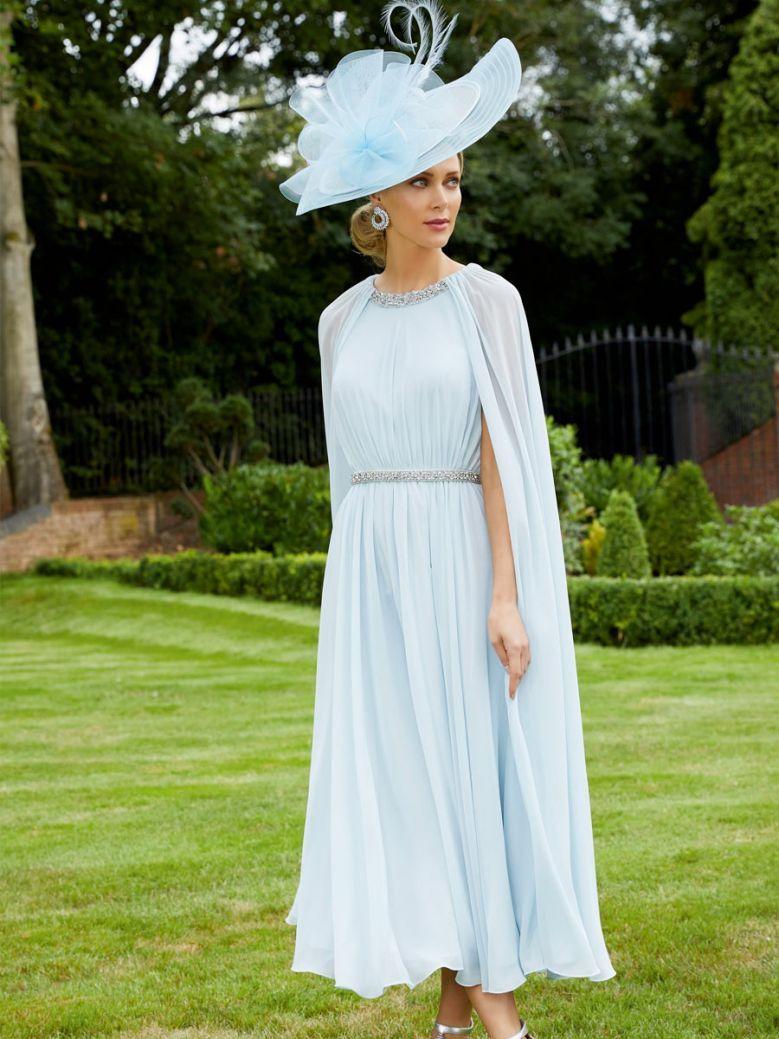 Veni Infantino for Ronald Joyce Chiffon Dress, Crystal Blue, Style 991711