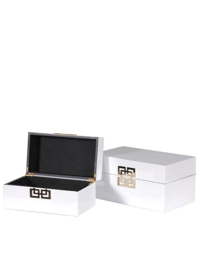 Set of 2 White Boxes