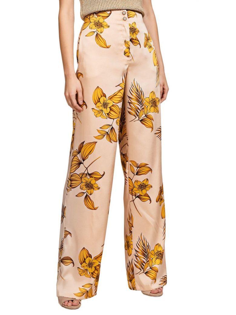 Access Fashion Tropical Floral Print Wide Leg Trousers