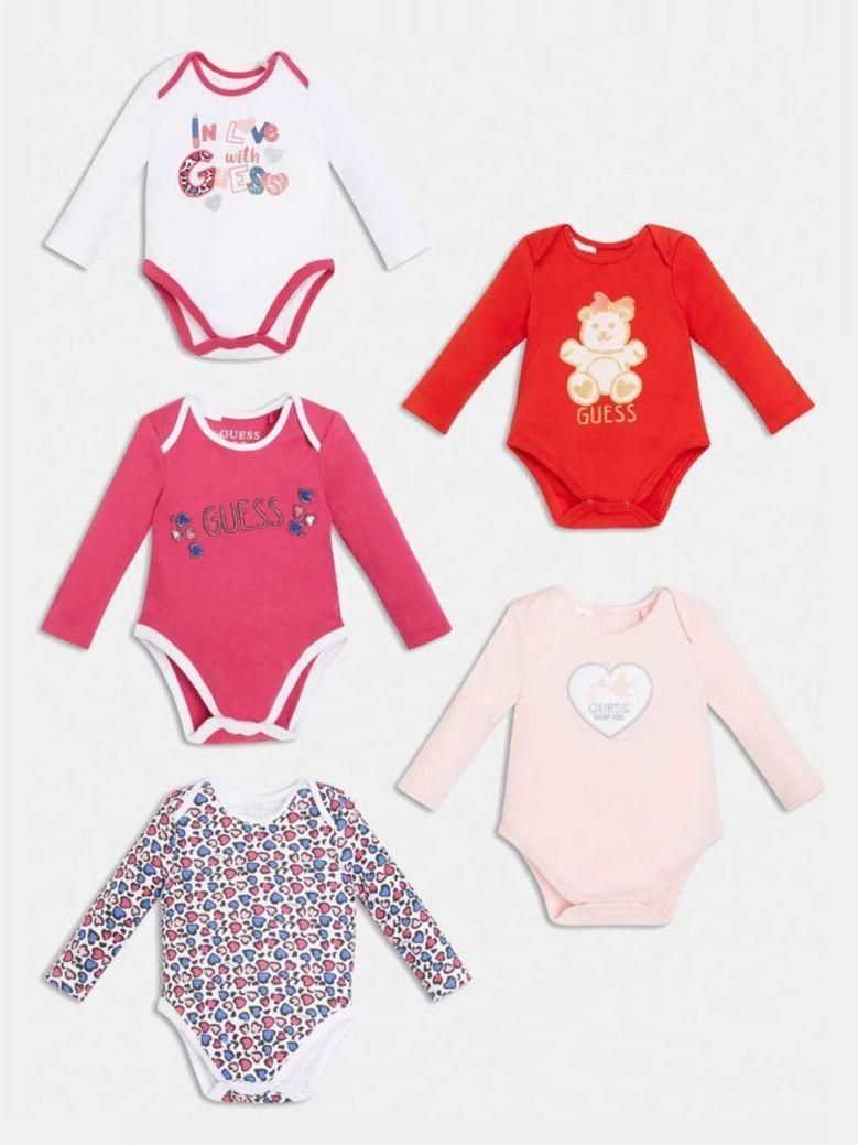 Guess 5 Piece Body Suit Set Pink