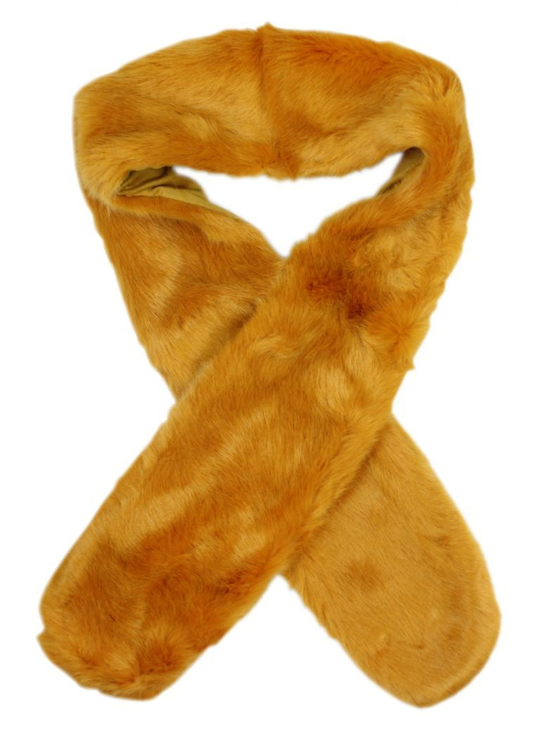 Rino & Pelle Honey Yellow Faux Fur Scarf