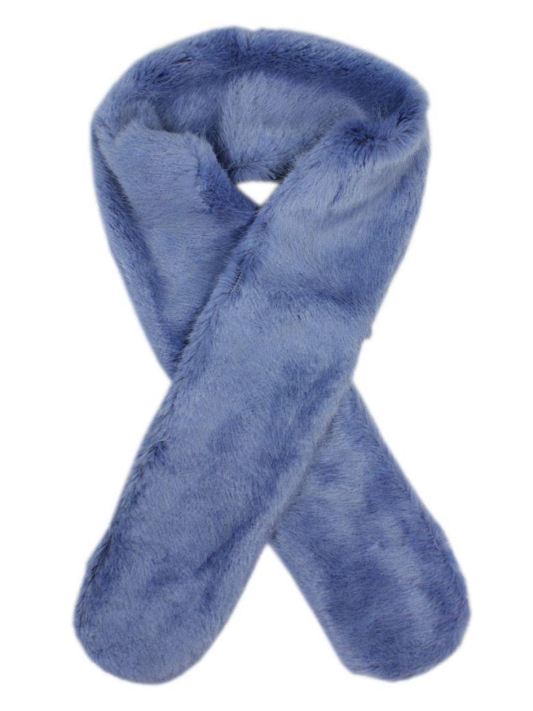 Rino & Pelle Blue Faux Fur Scarf