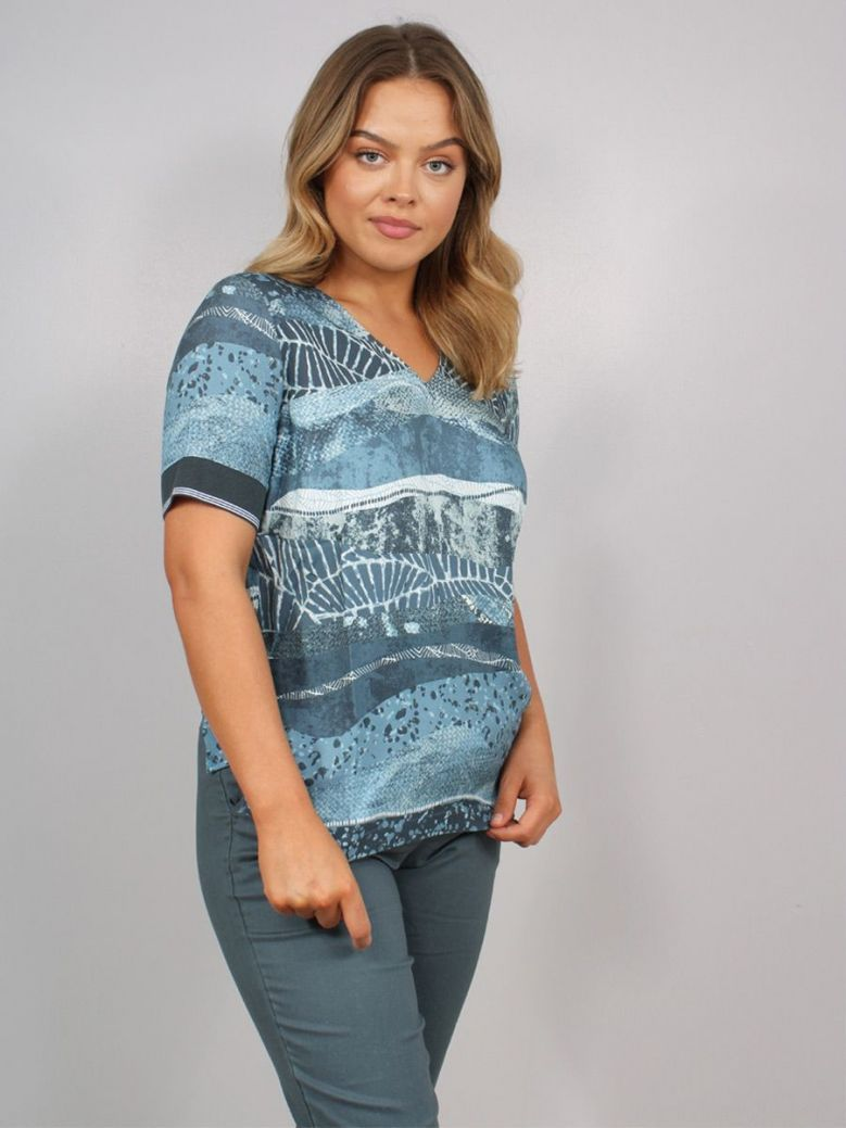 Sandwich Colourful Printed Top
