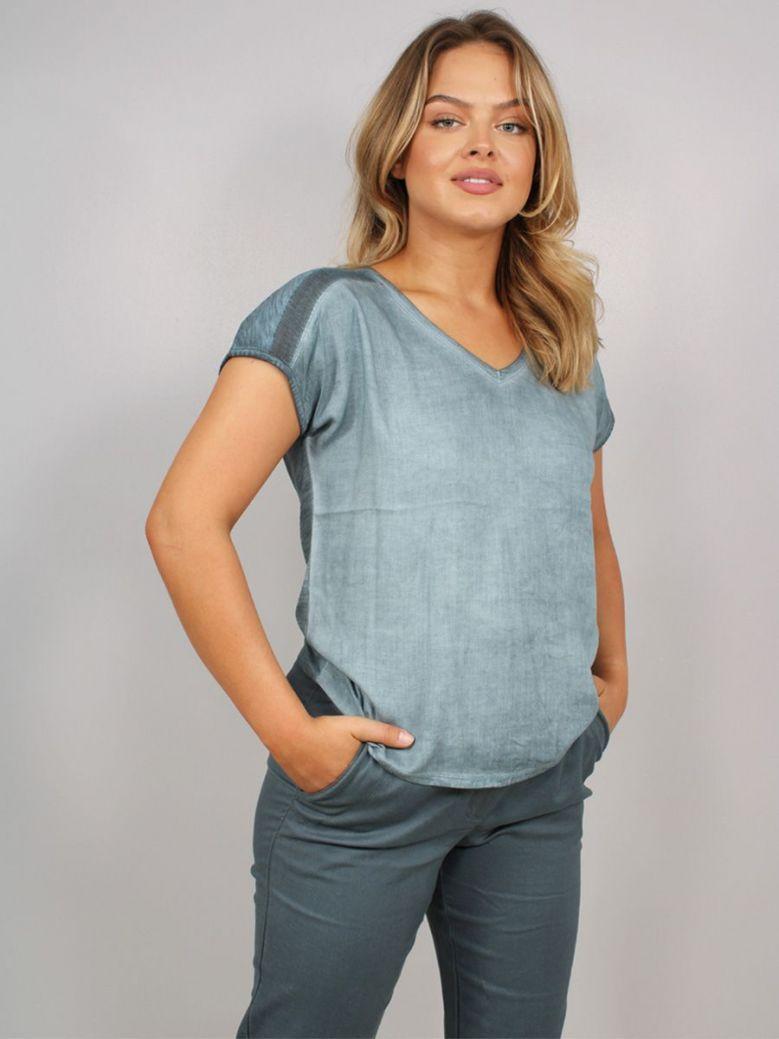 Sandwich V-Neck T-Shirt Grey