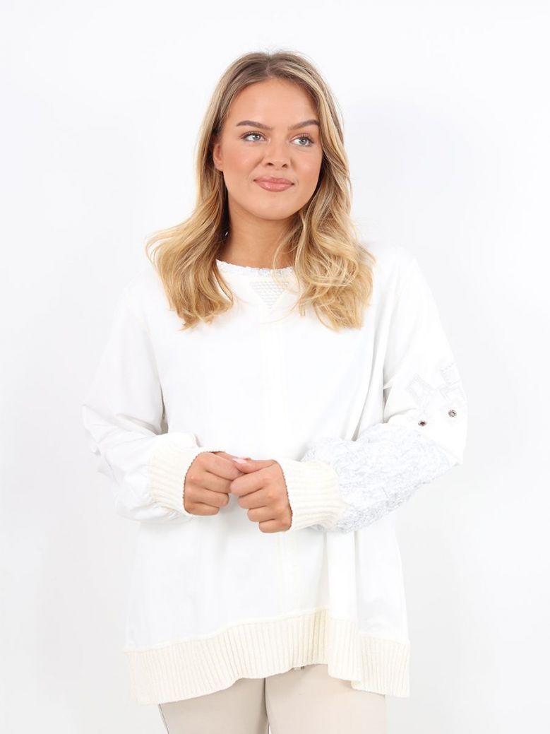 Elisa Cavaletti Embellished Sweater White