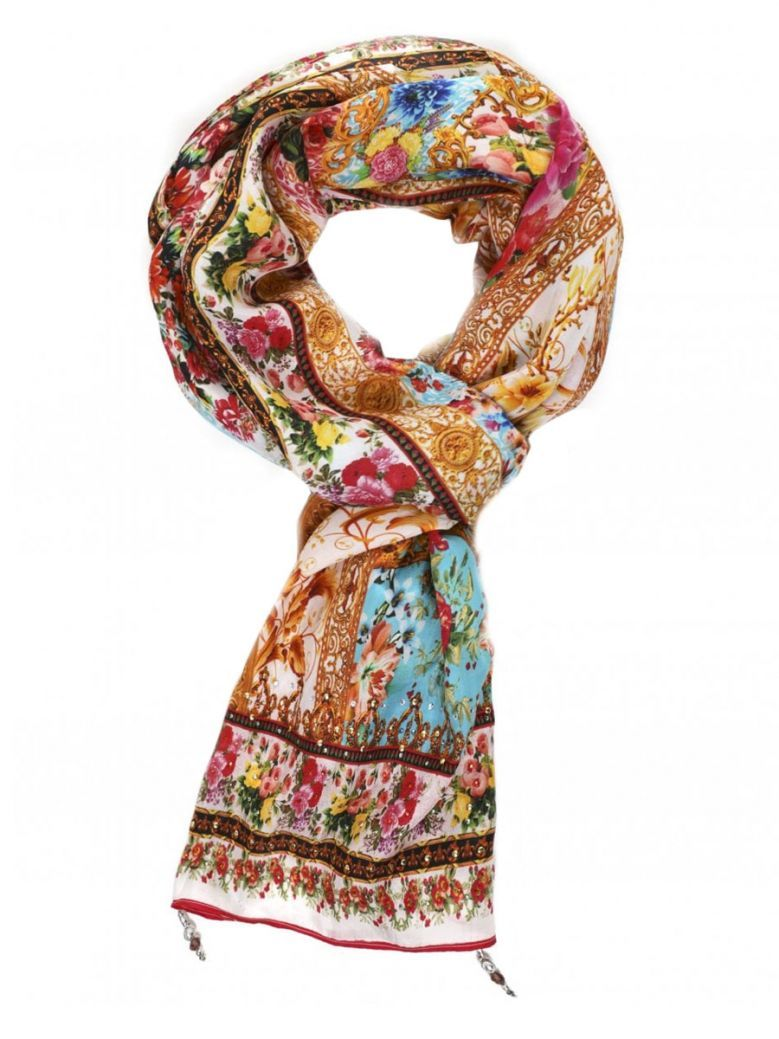 Inoa Multi Floral Silk Scarf