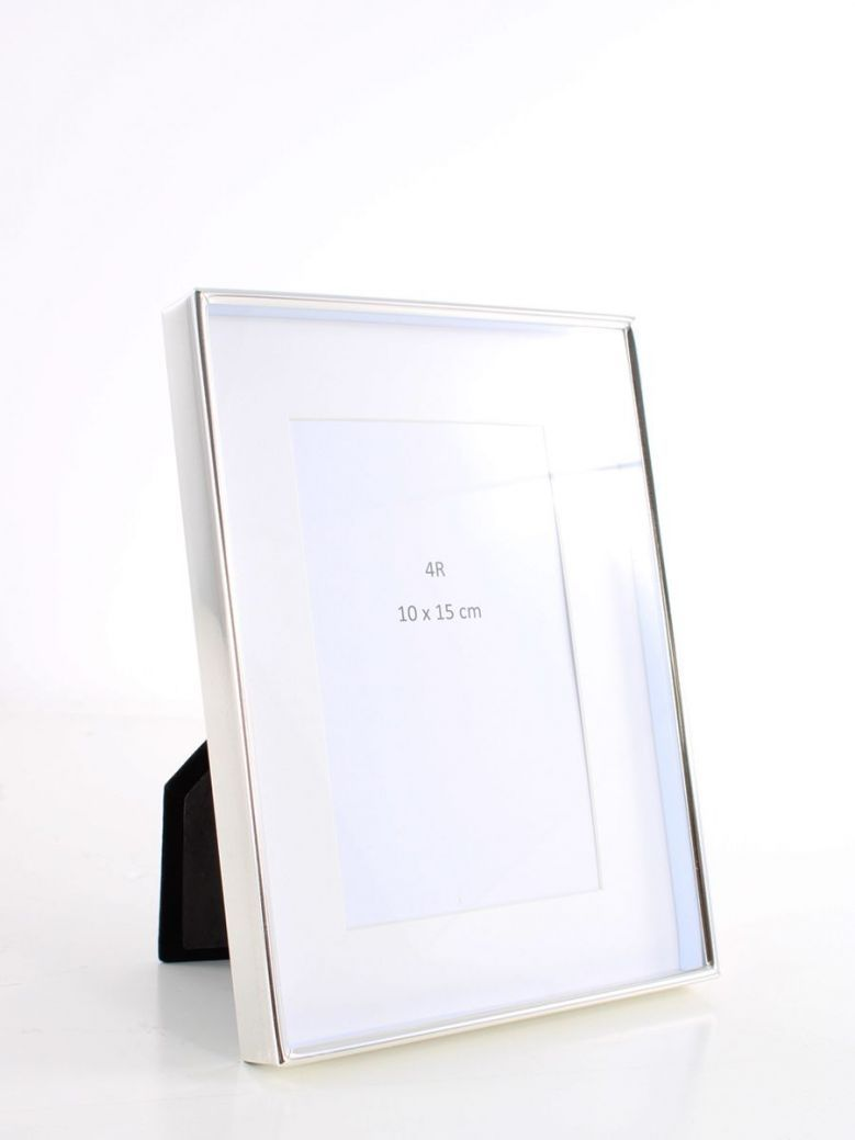 Silver Recessed Photo Frame 4x6