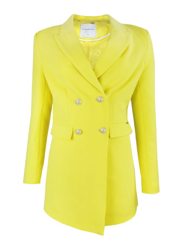Rino & Pelle Yellow Longline Blazer